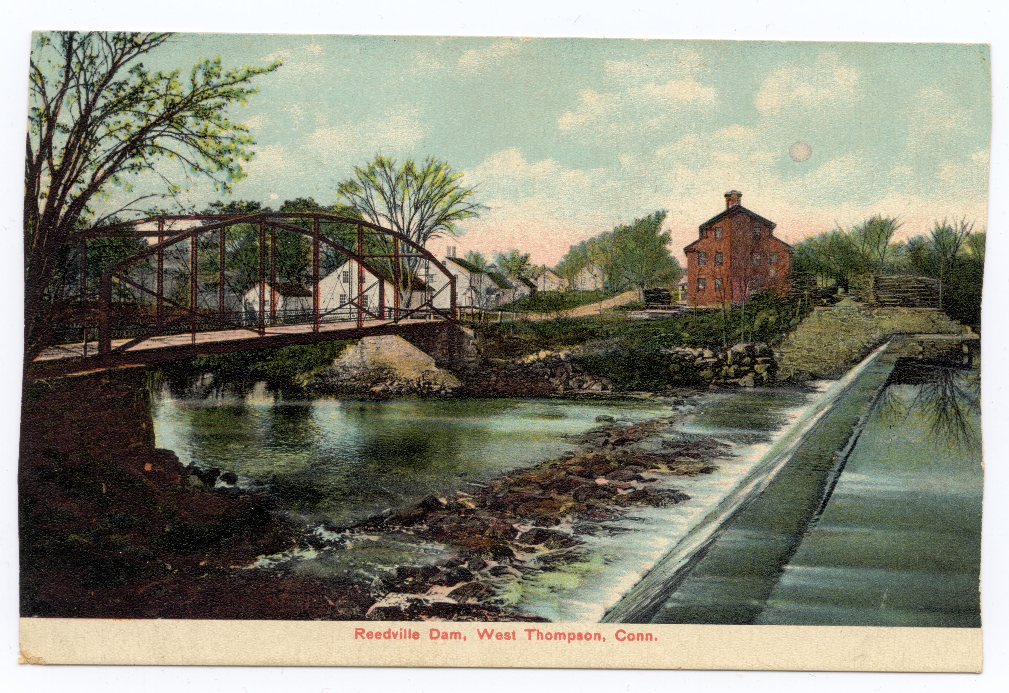 Reedville Dam, West Thompson, CT late 1800s