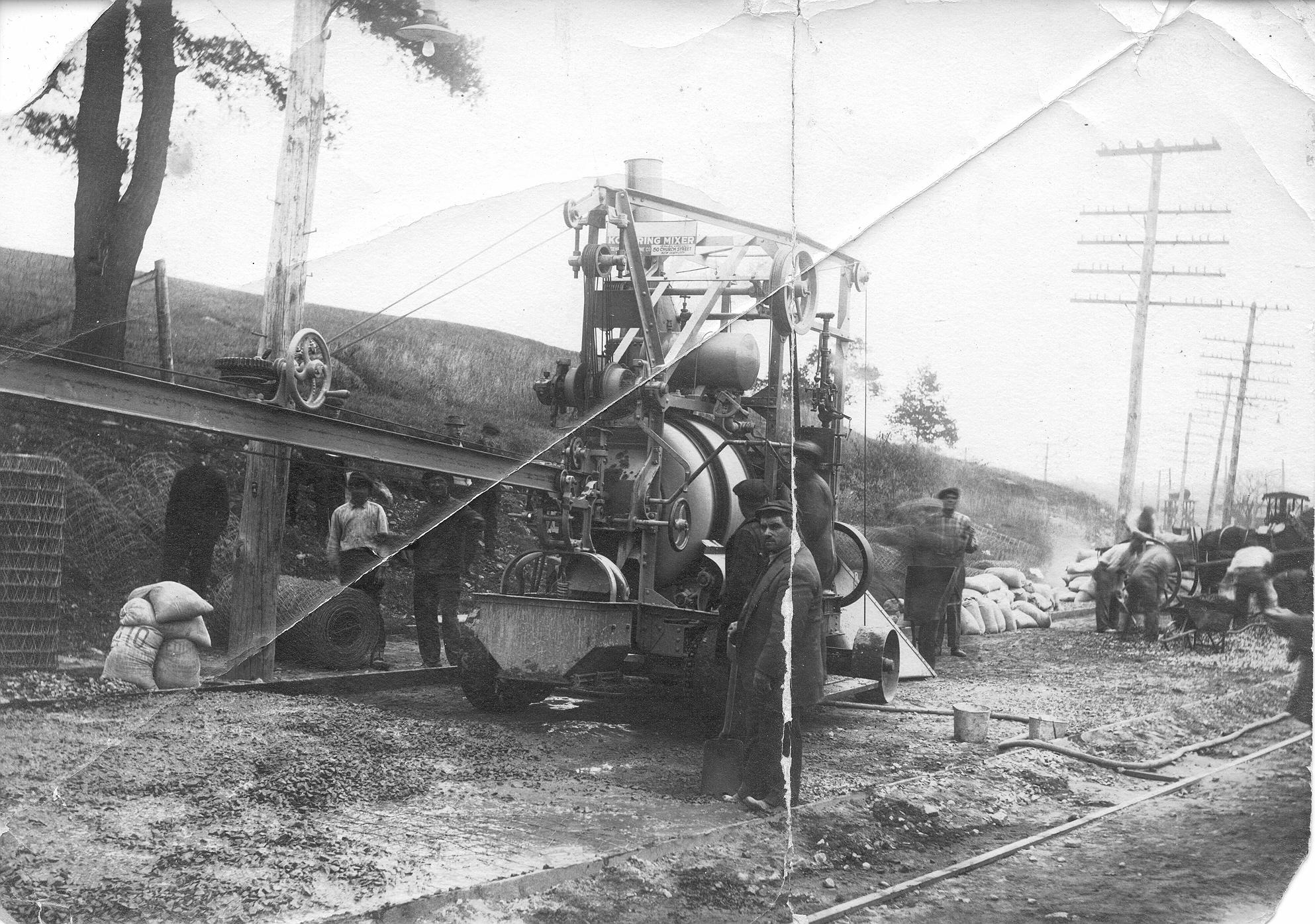 Pouring Rt. 12 in No. Grosvenordale ca 1914