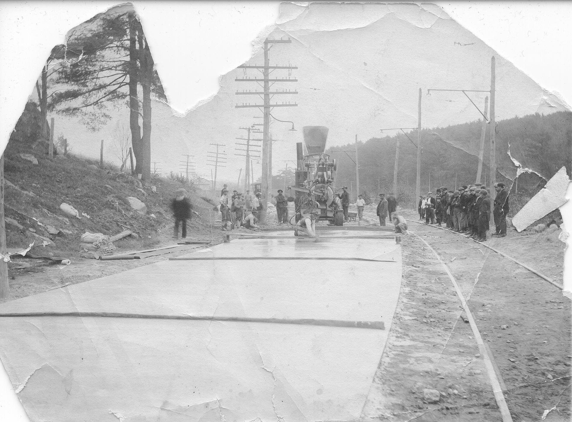 Pouring Rt 14 North Grosvenordale c1914