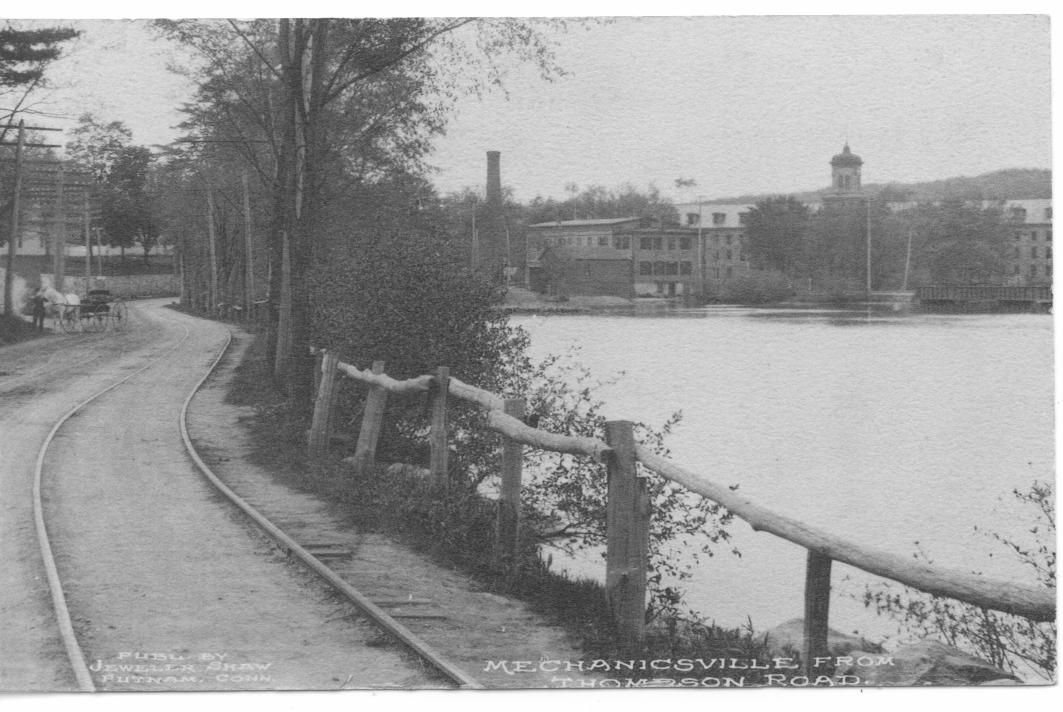 Trolley Track along the French River in Mechanicsville CT (Thompson)