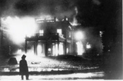 The Ream Mansion Burns