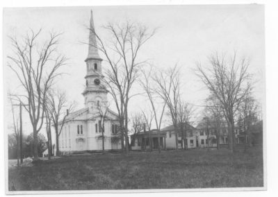Thompson Congregational Church, Academy Building & the Paine House - Ron Jolicoeur - c1906